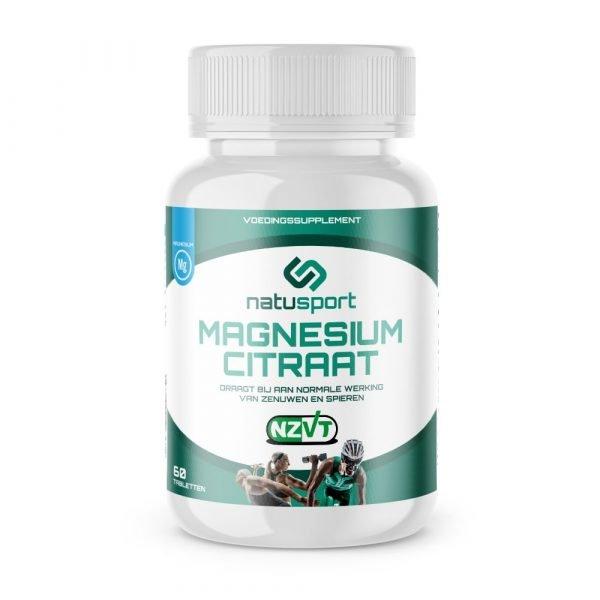 NatuSport Magnesium Citraat vooraanzicht van het potje