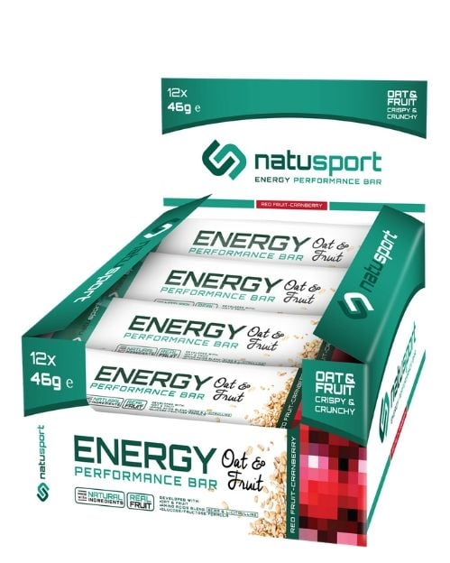 NS037 Natusport Energie performance bar oat red fruit cranberry