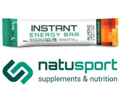 Natusport Instant energy bar fresh orange 40gram
