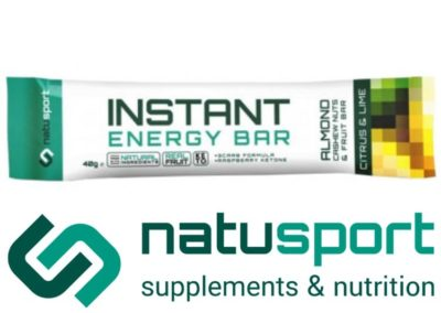 Natusport instant energy bar citrus lime 40gram